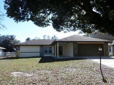 Dunnellon Single Family Home For Sale: 21406 SW Plantation Street