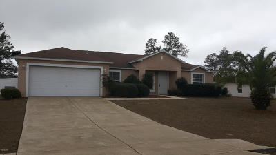 Ocala Single Family Home For Sale: 4624 SW 108th Place