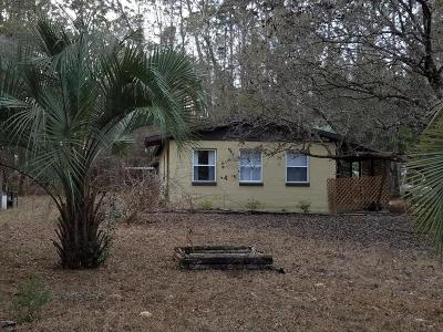 Dunnellon Single Family Home For Sale: 3400 SW 189th Avenue