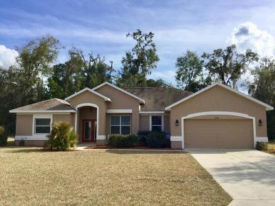 Dunnellon Single Family Home For Sale: 19624 SW 79th Place