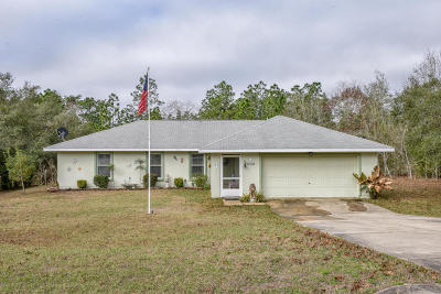 Dunnellon Single Family Home For Sale: 3058 SW Persimmon Lane