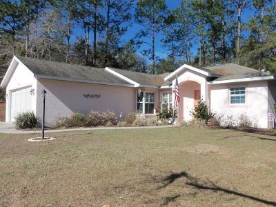 Dunnellon Single Family Home For Sale: 9832 SW 196 Avenue