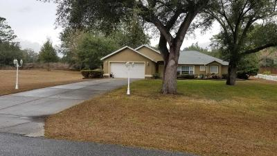 Dunnellon Single Family Home For Sale: 20155 SW 80th Place Road