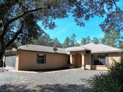 Dunnellon Single Family Home For Sale: 7360 SW 137th Court Road