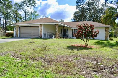 Dunnellon Single Family Home For Sale: 21500 SW Plantation Street