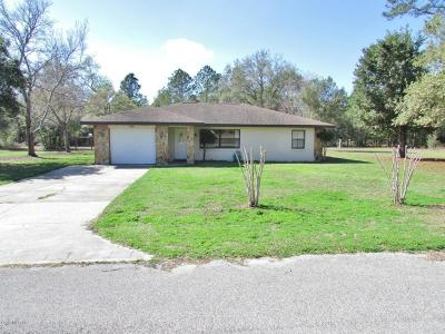 Dunnellon Single Family Home For Sale: 7920 SW SW 202nd Avenue