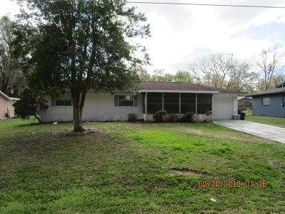 Belleview Single Family Home Pending: 5900 SE 119th Street