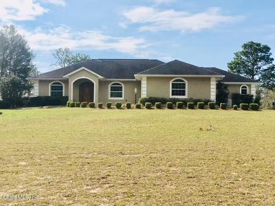 Ocala Single Family Home For Sale: 10850 SW 105th Street