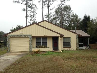 Dunnellon Single Family Home For Sale: 21404 SW Raintree Street