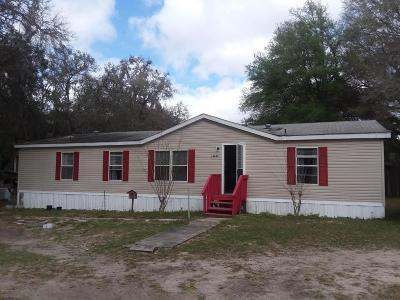 Fort McCoy Mobile/Manufactured For Sale: 14847 NE 145 Lane