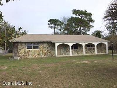 Dunnellon Single Family Home For Sale: 11651 SE 195th Lane