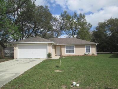 Belleview Single Family Home Pending: 5355 SE 103rd Street