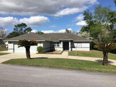 Levy County Single Family Home For Sale: 481 NE 151st Terrace