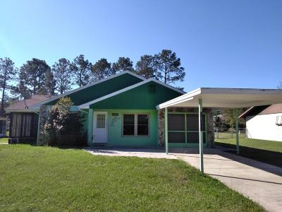Dunnellon Single Family Home For Sale: 21304 SW Peach Blossom Street