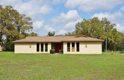 Dunnellon Single Family Home For Sale: 13535 SW 106th Place