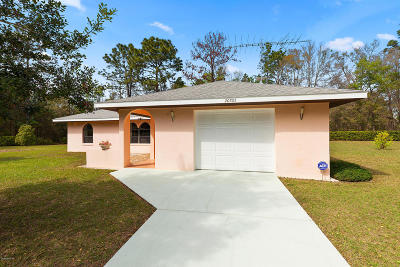 Dunnellon Single Family Home For Sale: 20765 SW Robin Drive