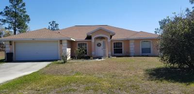 Dunnellon Single Family Home For Sale: 9633 SW 121st Terrace