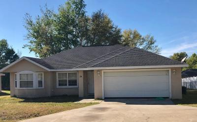 Marion County Single Family Home For Sale: 54 Pecan Course Circle