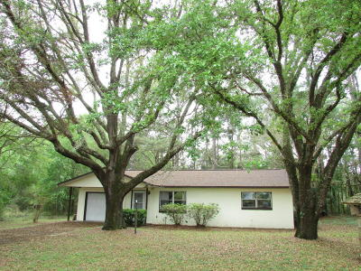 Dunnellon Single Family Home For Sale: 19854 SW Nightingale Drive