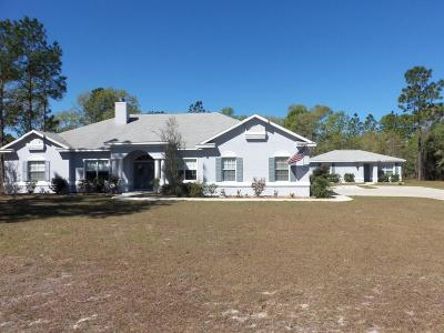 Dunnellon Single Family Home For Sale: 10430 SE 126 Terrace