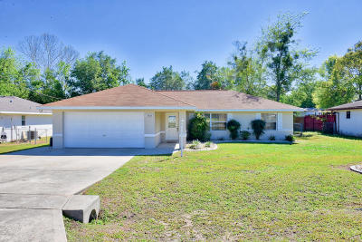 Belleview Single Family Home For Sale: 11865 SE 71st Terrace Road