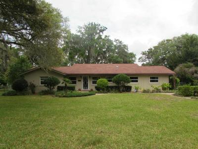 Dunnellon Single Family Home For Sale: 3581 W Cypress Drive