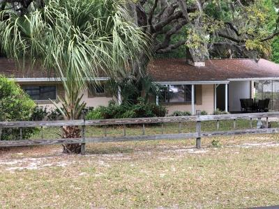 Dunnellon Single Family Home For Sale: 2897 W Cypress Drive