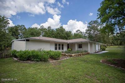 Dunnellon Single Family Home For Sale: 8490 SW 209th Court