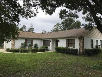 Marion County Single Family Home For Sale: 14896 SW 29th Avenue Road