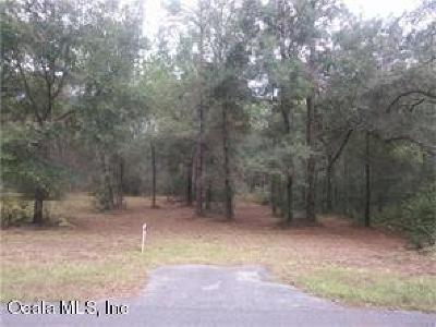 Citrus County Residential Lots & Land For Sale: SW 57 Place Place