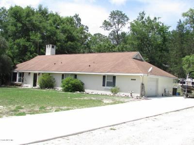 Dunnellon Single Family Home For Sale: 20775 SW 88th Place Road