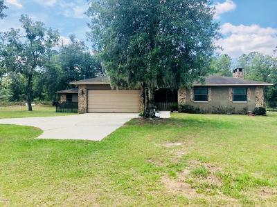 Dunnellon Single Family Home For Sale: 23882 SW White Sands Road