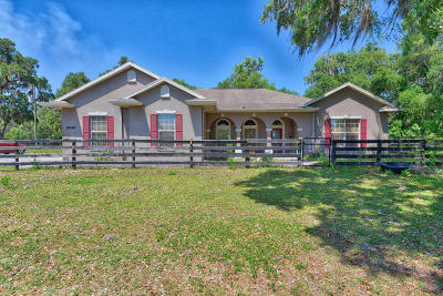 Reddick Single Family Home For Sale: 15620 NW 112th Avenue