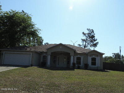 Marion Oaks North, Marion Oaks Rnc, Marion Oaks South Single Family Home For Sale: 8145 SW 131 Place