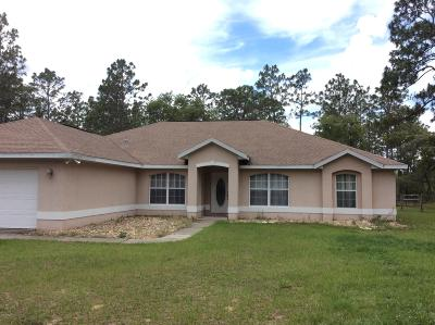 Dunnellon Single Family Home For Sale: 140 NW Ridgewood Road