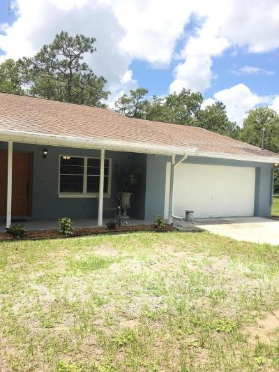 Homosassa Single Family Home For Sale: 1409 S Candlenut Avenue