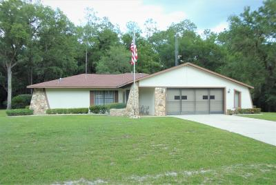 Citrus County Single Family Home For Sale: 11149 N Fuego Drive