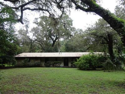 Citra Single Family Home For Sale: 18615 NE 24 Avenue