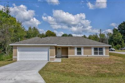Ocala Single Family Home For Sale: 16247 SW 27 Terrace Road