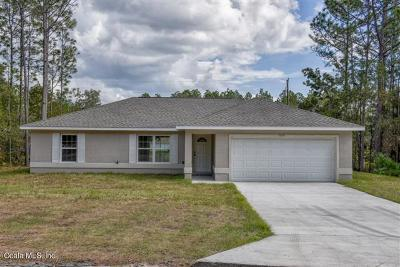 Ocala Single Family Home For Sale: 16255 SW 27 Terrace Road