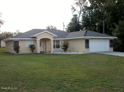 Citrus Springs Single Family Home For Sale: 1275 W Sorrento Drive