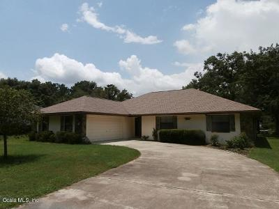 Dunnellon Single Family Home For Sale: 19725 SW 93 Place