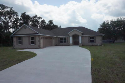 Ocala Single Family Home For Sale: 13772 SW 27th Court Road