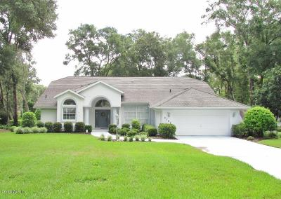 Dunnellon Single Family Home For Sale: 9707 SW 190 Terr Road