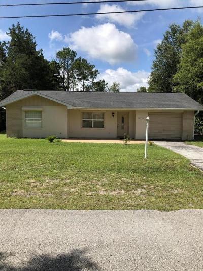 Dunnellon Single Family Home For Sale: 19920 Flamingo Drive