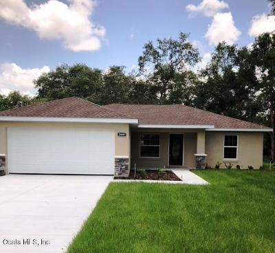 Belleview Single Family Home For Sale: 12071 SE 87th Court