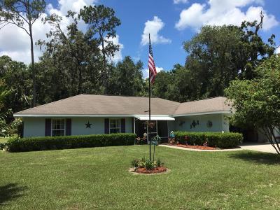 Citra Single Family Home For Sale: 511 NE NE 189th Lane Lane