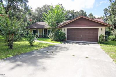 Silver Springs Single Family Home For Sale: 16720 NE 3rd Lane