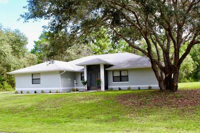 Dunnellon Single Family Home For Sale: 3415 W Webster Place