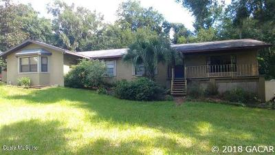 Micanopy Single Family Home For Sale: 10331 NW 200th Street Road